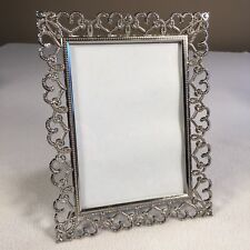 """Freestanding Frame Malden Silver Color With Faux Gems 9""""x 7"""" Vert or Horizontal"""