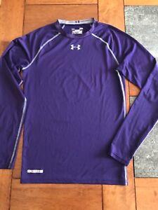 Men's UNDER ARMOUR HeatGear Compression Fit ATHLETIC SHIRT Purple Large