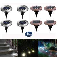 8LED énergie solaire enterrée lumière sous le sol lampe de jardin terrasse