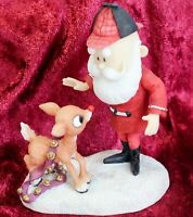 RARE Enesco Rudolph & The Island of Misfit Toys Rudolph With Santa 725064L