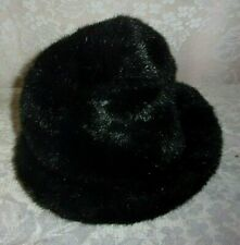 Kenneth Cole Black Faux Fur Plush Bucket Hat