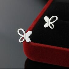 Fashion Women 925 Sterling Silver Butterfly Earrings Ear Studs Gifts