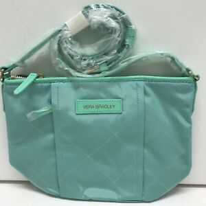 NWT Vera Bradley Preppy Poly Crossbody Bag in Mint