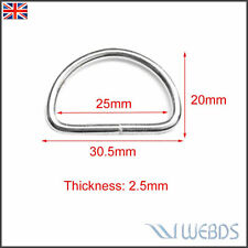 Metal D Ring 25mm For Backpack Bag Shoes Parts Leather Craft Strap Pets Collar