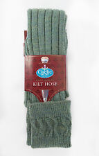 Men's Kilt Hose - Navy, Bottle Green, Cream, Black, Lovat Green & Lovat Blue