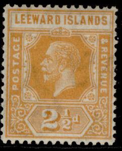 LEEWARD ISLANDS GV SG66, 2½d orange-yellow, LH MINT. Cat £14.