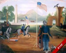 THE ALLEGORY OF FREEDOM AFRICAN BLACK AMERICA PAINTING ART REAL CANVAS PRINT