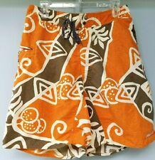 Patagonia Men's Size 32 Swim Board Shorts Trunks Orange Green Tribal