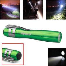 Mini 9000LM Waterproof Q5 LED Tactical Green Flashlight Clip Lamp AAA Torch