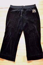 Juicy couture black velour pants yoga 1x women