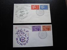 FRANCE - 2 enveloppes 1er jour 1961/1962 (europa) (cy94) french