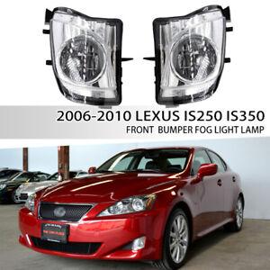 Fit 2006-2010 LEXUS IS250 IS350 Front Bumper Clear Lens Fog Lights Lamps 2PCS