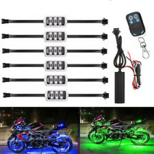 6X Multi Color LED Under Car Tube Strip Underbody Glow Neon Light Kit Wireless