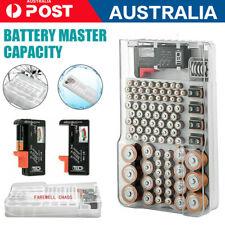 AU Portable Battery Master Battery Capacity Tester Storage Organizer Box Hold 93