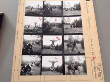 MARCEL MARCEAU (MIME MARCEAU) : PLANCHE CONTACT ORIGINALE DE 1968