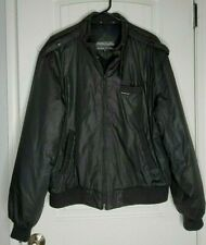 Members Only Men's Jacket Retro Classic Bomber Black Coat 44 Very Nice