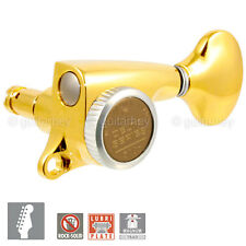 NEW Gotoh 510-MGT DELTA Series 6 in Line Locking Tuning Keys STAG 18:1 - GOLD
