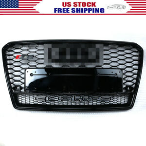 For Audi A7 S7 RS7 Style 2011-2014 Front Honeycomb Mesh Grill Grille W/ Quattro