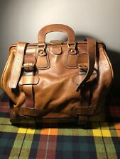 Leather Suitcase Handmade In Itlay 40x35x25 Cm