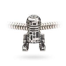 R2D2 R2-D2 Bead Stainless Steel Star Wars Charm Biagi Pandora Chamilia Troll