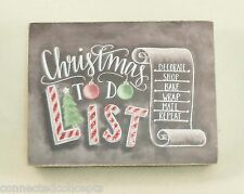 Christmas Primitives by Kathy Chalk Art Box Sign - Christmas To Do List (29242)
