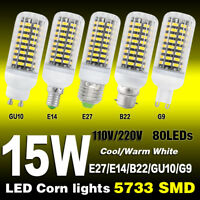 E27/GU10/G9/E14/B22 LED Lampen Leuchtmittel 5733 SMD Glühbirne Birne Licht 7-25W