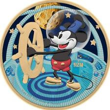 Niue 2017 $2 Steamboat Willie Flying to the Moon 1 Oz Silver Gilded Coin