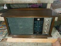 Vintage RCA Tabletop AM/FM Radio - RLC60W - Walnut Cab. Dual Speaker. Tested