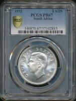 South Africa, 1952 2-1/2 Shillings, George VI (Silver) - PCGS PR67 (Proof)