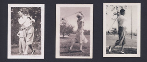 RARE 1932 Bulgaria Sports Tobacco Golf card Walter Hagen USA + 2 premiums