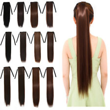 """18"""" 24"""" 30"""" Women Straight Synthetic Ponytail Ombre Pony Tail Hair Extensions US"""