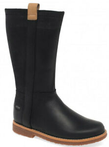 Clarks COMIT WILD Girls Black Leather GoreTex Boots 10 & 11.5 F NEW BOXED