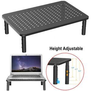 Computer PC Desktop Monitor Stand Height Adjustable Riser Desk Printer Rack