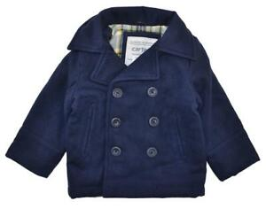 Carter's Boys Navy Faux Wool Pea Coat Size 4 5/6 7