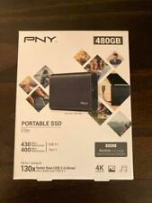 PNY Elite 480GB, Ext/ portable SSD PSD1CS1050480FFS Hard Drive ...nearly 500gb