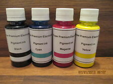 COMPATIBLE PIGMENT INK REFILL BOTTLE KIT FOR EPSON WORKFORCE 645 840 845 WF-3520