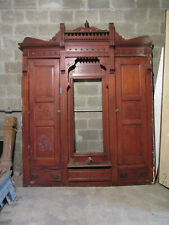 ~ Antique Carved Oak Closet Front~ Built In Armoire~ 85 X 105 ~ Salvage
