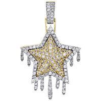 10k Solide Or Jaune Diamant Cut Croix priant mains religieux Charme Pendentif