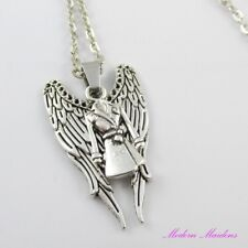 Supernatural Inspired Angel Castiel Charm Pendant Chain Necklace 45cm