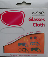 Glasses Cloth, Spectacles Sunglasses Camera Lenses, Smear Free Washable e-cloth