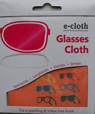 Glasses Cloth, Spectacles Sunglasses Camera Lenses, Smear Free Washable e-cloth
