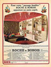 """PUBLICITE ADVERTISING  1966   ROCHE & BOBOIS  meubles """" PAYSAGE FAMILIER"""""""