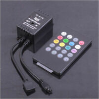 20 Key IR Sound Sensor Music Remote Controller for RGB 5050 3528 LED Strip Light