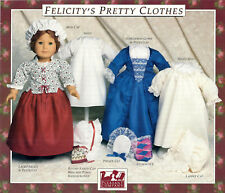 FELICITY'S PRETTY CLOTHES PATTERN~PLEASANT COMPANY~AMERICAN GIRL~1990 NEW~UNCUT