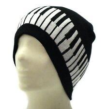 Piano Keys Black white Beanie Hat Skull Cap