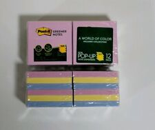Post-It Notes Pop-Up Pads, 12 Pads, 100 Sheets Each, Total 1200 Sheets, Recycled