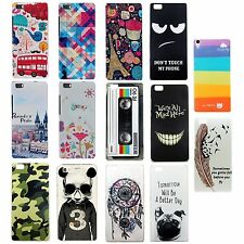 Custodia HARD Back Fantasia Cover Case Rigida Plastica Colori per Huawei P8 lite