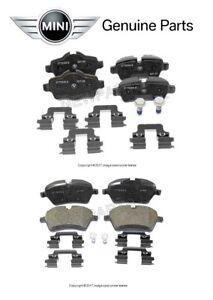 For Mini Cooper R55 R56 R57 S S Clubman Front & Rear Brake Pad Sets Genuine KIT