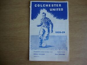 1958/9 Colchester United v Newport County - League Division 3 - Excellent