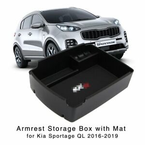 Armrest Storage Box for Kia Sportage QL 2016 2017 2018 2019 Center Console Tray